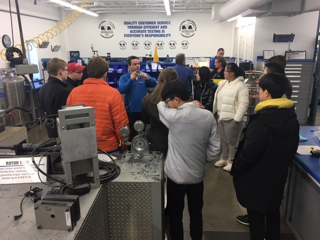 Engineering Students Visit Fastenal
