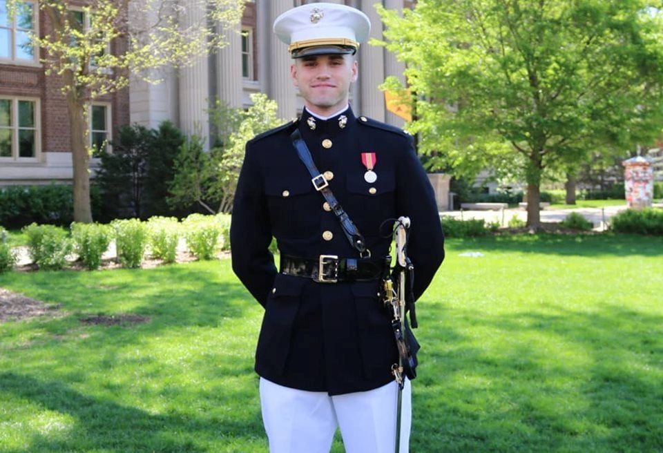 Cotter Graduate Commissioned as Marine Corps Officer
