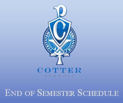 End of Semester Schedule 2018