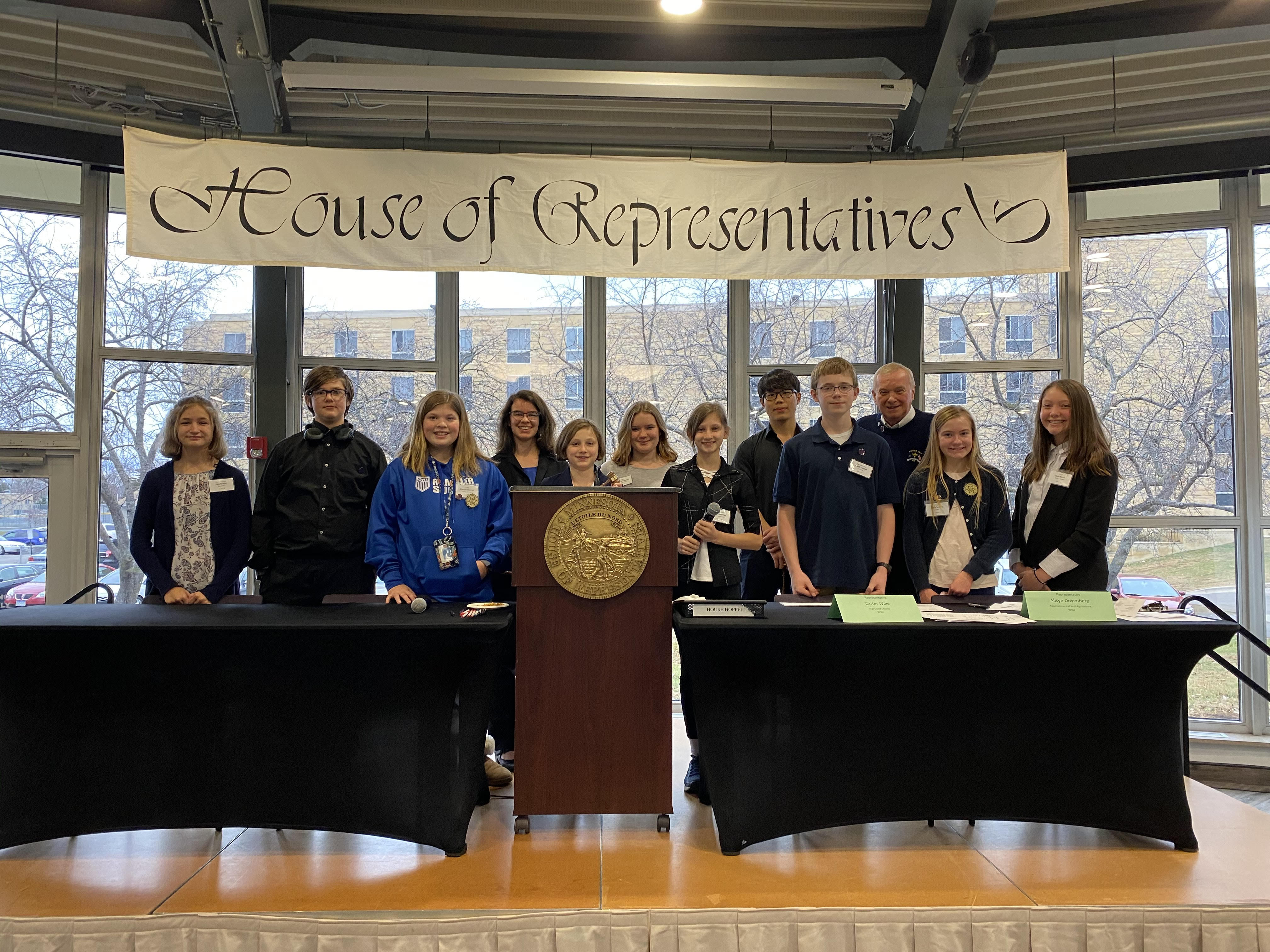 Cotter Students Participate in Winona Model Legislature 2019